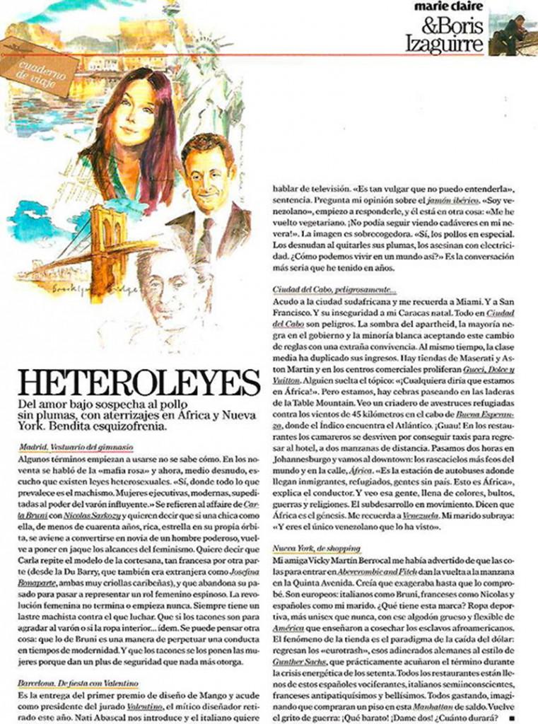 Ilustraciones publicidad revista Marie Claire