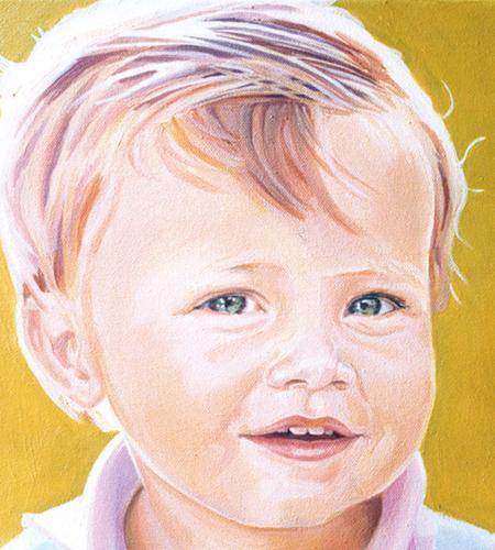 Retrato acrilico sobre lienzo